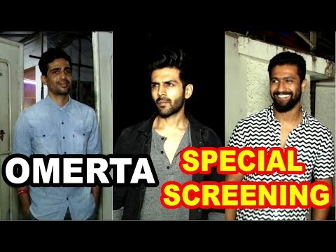 Kartik Aaryan & Gulshan Devaiya At Special Screening Of Film Omerta