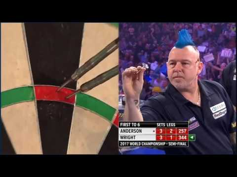 world darts championship: gary anderson vs peter wright - 157 checkout!