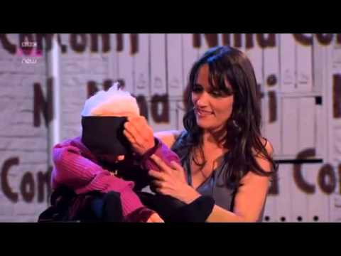 ventriloquist - Nina Conti puts on a show using her amazing ventriloquist talent, but makes it hilarious as well! I DO NOT CLAIM THIS VIDEO.