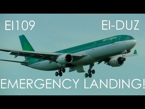 EI109 EMERGENCY LANDING! | Aer Lingus Airbus A330 EI-DUZ Emergency Landing at Dublin Airport #EI109
