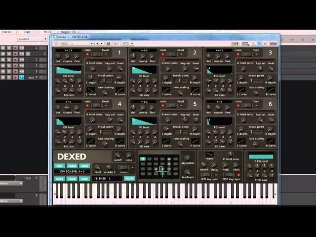 DEXED - Open source DX7 librarian / emulator VSTi demo