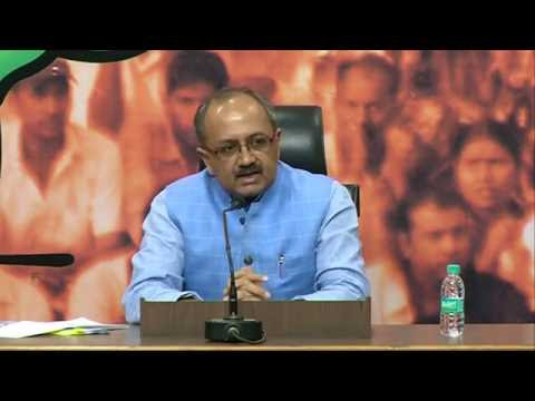 Press Conference by Shri Sidharth Nath Singh on at BJP HQ : 16.08.2016