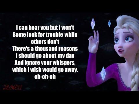 Frozen 2 - Into The Unknown (Lyrics) 4k Idina Menzel, AURORA