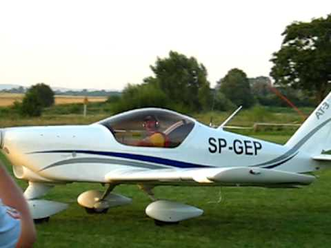 Lądowanie samolotu SP-GEP AT-3...