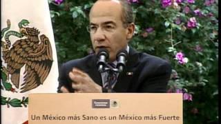 Ciudad de México, 27 de junio del 2011.- Discurso del Presidente Calderón durante la Ceremonia conmemorativa del Día...