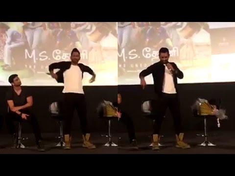 Dhoni-imitates-Rajinikanths-popular-punch-dialogue-Semmma-Maaassss