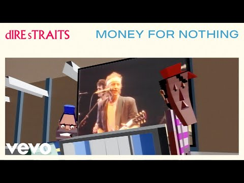dire straits - money for nothing (videoclip)