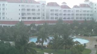 Woke up to the rain. Runaway Bay Jamaica. Pinero Hotels.