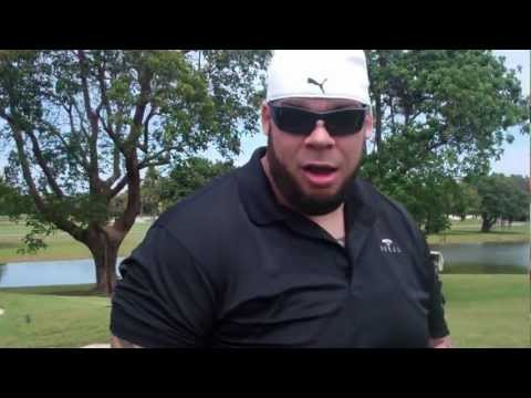 Brodus Clay At WWE WrestleMania Pro-Am Golf Tournament (Part 3)