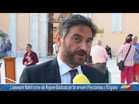 L'assessore Corrado Matera scrive alla Regione Basilicata per far arrivare il Frecciarossa a Sicignano