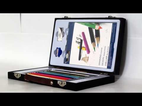 Mini Maleta de Desenho para Iniciantes Royal & Langnickel 18 peças - RSET-DSSS7000