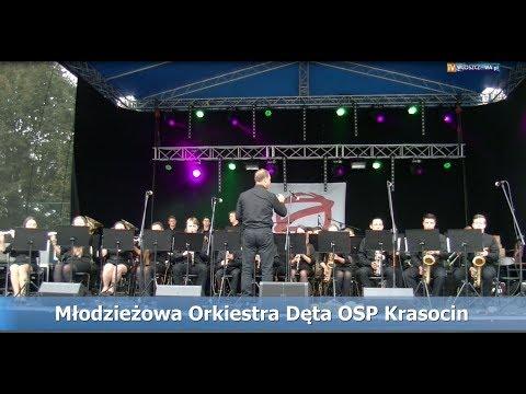 """Występ Młodzieżowej Orkiestry Dętej OSP Krasocin na imprezie """"Włoszczowa Rybą i Lasem Stoi..."""""""
