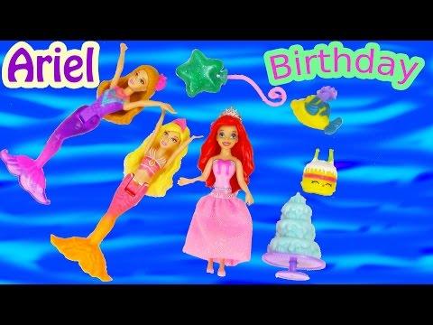 little mermaid - SUBSCRIBE: http://www.youtube.com/channel/UCelMeixAOTs2OQAAi9wU8-g?sub_confirmation=1 Disney Princess Ariel from The Little Mermaid movie is having a Birthda...