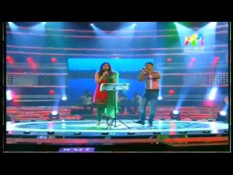 shwetha mohan and siyad singing at josco indian voice....