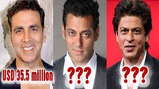 """https://google.com/►►SRK, Salman, Akshay among world's highest-paid celebs.See how much they earned last year►►Bollywood whizzes Shah Rukh Khan, Salman Khan and Akshay Kumar are in Forbes magazine's World's Highest-Paid Celebrities list, driven by rapper P Diddy, otherwise called Sean Combs. Shah Rukh, who earned an incredible USD 38 million between June 1, 2016 to June 1, 2017, is positioned 65 on the rundown in front of his Indian counterparts and worldwide famous people like tennis whiz Novak Djokovic, performing artist Amy Schumer, golf legend Tiger Woods, footballer Neymar and vocalists Ed Sheeran, Rihanna, Britney Spears and Katy Perry. Other than him, Hollywood performing artist Jennifer Lopez and The Chainsmokers are additionally positioned at 65. Salman is positioned at 71 on the rundown with an acquiring of USD 37 million while Akshay earned USD 35.5 million in the previous one year and is positioned 80 on the rundown. Diddy, who finished the rundown with a winning of USD 130 million, is trailed by American vocalist Beyonce Knowles (USD 105 million) at second position and Harry Potter creator JK Rowling (USD 95 million) in the third spot. Rapper Drake got the fourth spot with a procuring of USD 94 million over the most recent one year. He is joined by pro footballer Cristiano Ronaldo (USD 93 million), artist The Weeknd (USD 92 million) and American TV and radio character Howard Stern (USD 90 million) at the fifth, 6th and seventh position individually. American shake band Coldplay (USD 88 million) guaranteed the eighth spot. Creator James Patterson (USD 87 million) and competitor LeBron James (USD 86 million) gathered together the main 10 at ninth and tenth position. The rundown likewise incorporates names like Justin Bieber, Ellen DeGeneres, Adele, Mark Wahlberg, Dwayne 'The Rock' Johnson, Elton John, Ryan Seacrest, Vin Diesel, Paul McCartney, Adam Sandler, Jackie Chan, Robert Downey Jr, Kim Kardashian, Taylor Swift and Tom Cruise.►►Subscribe """"ZST MEDIA"""" """