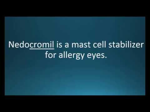 How to pronounce nedocromil (Alocril) (Memorizing Pharmacology Video Flashcard)