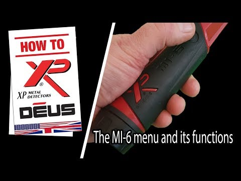 XP MI-6 pinpointer and its menu functions