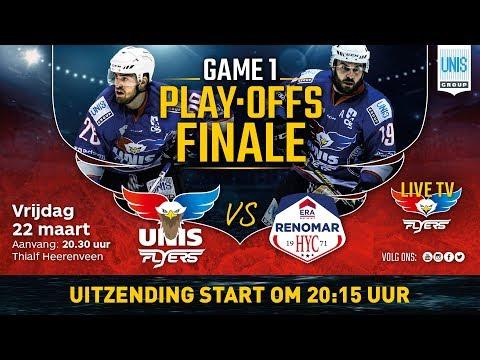 Live IJshockey Play Offs Fiinale Unis Flyers vs. HYC Herentals 22 maart 2019 20:15 uur/