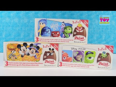 Disney Chocolate Surprise Eggs Inside Out Toy Story Opening | PSToyReviews