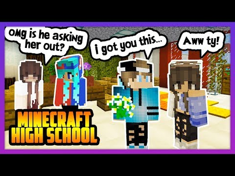 HE SUPRISED HIS CRUSH WITH FLOWERS! - Minecraft High School