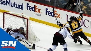 Sidney Crosby Fights Off Erik Johnson, Scores Beautiful Backhand Goal by Sportsnet Canada