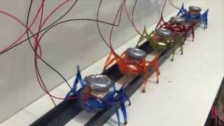 Microrrobôs de 3,5 gramas puxando um carro de 2 toneladas!!!