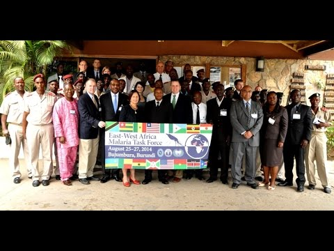 "The East and West Africa Malaria Task Force, launched four years ago, has matured into a robust collaboration between East and West African countries and the United States. More than 60 senior medical representatives from member states met in Bujumbura, Burundi, on August 25, 2014 for the opening ceremonies of the Task Force conference.  As part of the U.S. effort to eradicate malaria on the African continent, in Burundi alone the United States has provided more than $40 million through USAID to help build capacity of Burundi's malaria prevention and control program. ""Malaria affects productivity and the ability of troops to fight during peace-keeping operations,"" said Ambassador Liberi, U.S. Ambassador to Burundi. Ninety percent of malaria deaths in 2010 were recorded in Africa."