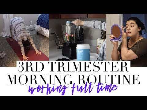 PREGNANT MORNING ROUTINE | Working Full Time