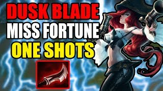 Miss Fortune Lethality Build OP ONE SHOTS DUSK BLADE!!  League of Legends  Lethality Rework  Kobe lol  Kobe2408 lolUp coming Skins:1. Program Heimerdinger, Elise, and Kalista2. Mater Arcanist Vladimir3. Nanotech Zac4. Arcade Yorick5. Secret Boss Viktor6. Elderwood Blitzcrank7. Pool Party illaoi, Ahri, Gragas, Bard, and Sivir8. Piltover Customs Rumble=====Make sure to Subscribe, Like, Comment, and Share :) Thank you!=======Donations for Live Stream:1. https://youtube.streamlabs.com/kobe2408Under Ground Free Music:1. Undergroundfreemusic@gmail.comEmail me your music and I will help you promote it. MUST BE COPYRIGHT FREE!Discord Channel Link:1. Discord - https://discord.gg/JnkwBXQFollow me Here:1. Facebook - https://www.facebook.com/akum.sandhu2. Twitter - https://twitter.com/AkumSandhu3. Twitch TV – https://www.twitch.tv/kobesandhu4. Youtube Live Stream - https://gaming.youtube.com/c/HardHitt...5. Instagram - https://www.instagram.com/kobesandhu/Check out my other videos:1. New Lucian OP Korean Pro Build LCS  League of Legends 7.9  Patch 7.9  Brofresco, Phylol, Redmercy, Nightblue3, imaqtpie, and pokimane ain't got stuff on ME!!! LOL - https://www.youtube.com/watch?v=wvI7H...2. NEW Heimerdinger Passive Rework 2017 patch 7.10  League of Legends 7.10 PBE3. *WTF* EKKO 2 HEXTECH ITEMS IS INSANELY STRONG AND WORKS!!  LEAGUE OF LEGENDS 7.9  PATCH 7.94. *NEW* Rework Ezreal PulseFire All Sound Effects and Voice Lines 2017  League of Legends 7.105. *NEW* PulseFire Caitlyn All Sound Effects and Voice Lines  League of Legends 7.10  Patch 7.106. NEW REWORK EZREAL PULSEFIRE SKIN GAME PLAY 2017  LEAGUE OF LEGENDS 7.9  PATCH 7.97. NEW PulseFire Cailtyn Gameplay Skin Spotlight 2017  League of Legends 7.9  Patch 7.9 PBE8. NEW HEXTECH MSI CAPSULE UNBOXING OPENING X50  League of Legends 7.8  Patch 7.89. New Hextech Chest and MSI Capsule Unboxing Opening  Rarest Skins in League of Legends10. PulseFire Cailtyn Teaser Trailer  League of Legends 7.9  Patch 7.9  New Skin Spotlight Gameplay11