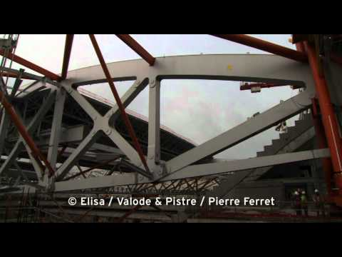Architecte stades / Agence Architecture sport : Video for the roofing of the Great Lille Stadium