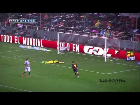 Seville FC 1-4 FC Barcelone (09.02.2014) HD (видео)
