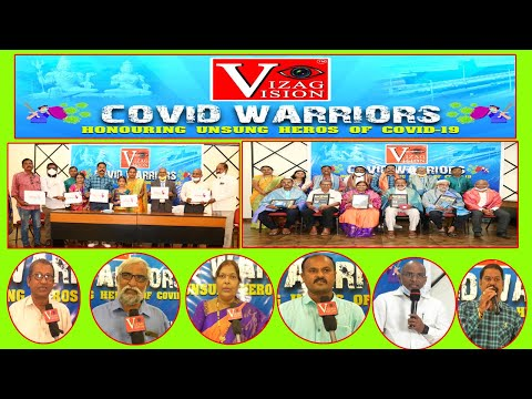 Vizag Vision Covid Warriors Felicitation & Women's World Log Inauguration in Visakhapatnam