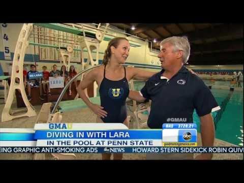 Lara Spencer - swimsuit diving with long legs - Good Morning America