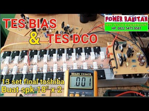 TES BIAS DAN DCO DRIVER MICRO BOSTRAP | FINAL TOSHIBA 13 SET