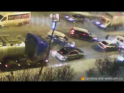 Легкая Авария вечером 29.01.2018 в городе Котельники.
