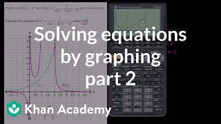 Estimating a solution to nonlinear system with calculator part 2 | Algebra II | Khan Academy