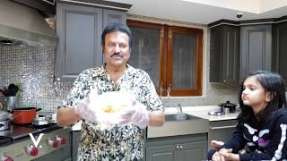 Dr M. Mohan Babu Cooks for his family Accepting Challenge by Pinky Reddy D/O Sri. T. Subbarami Reddy