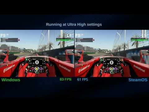 F1 2015 Benchmark on SteamOS & Windows