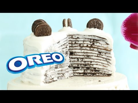 Oreo Mille Crepe Cake - Eugenie Kitchen