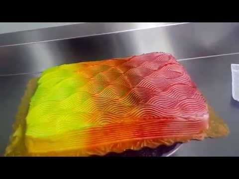 Cake Frosting Changes Colors From Different Angles