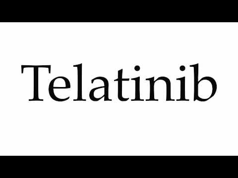 How to Pronounce Telatinib