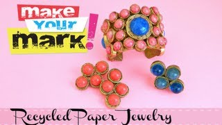 How to: Recycled Paper Jewelry - YouTube