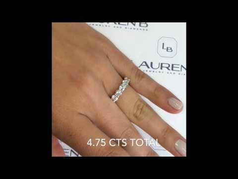 4.75 ctw Round Diamond Wedding Eternity Band