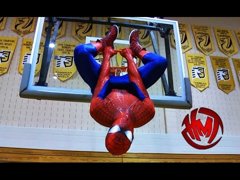 Dunks never seen in the NBA, performed by Spider-Man