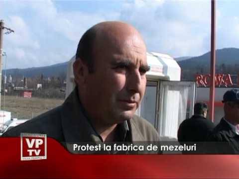 Protest la fabrica de mezeluri