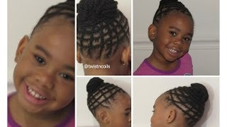 Natural Braid Hairstyle for Kids