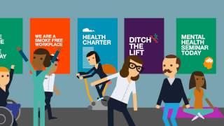 O Healthy Together Achievement Program, do governo do estado australiano de Vitória, traz passos, ferramentas e modelos para integrar a saúde e o bem-estar na cultura dos ambientes de trabalho.