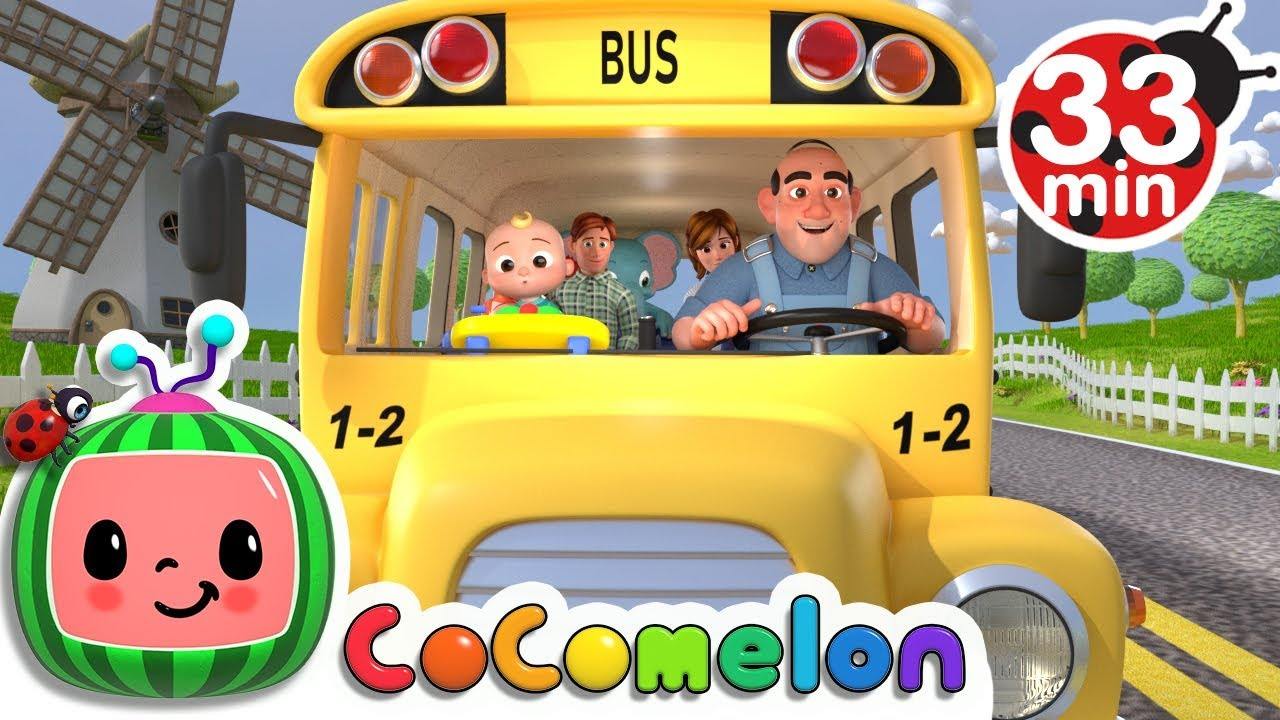 Wheels on the Bus | +More Nursery Rhymes & Kids Songs - CoCoMelon - YouTube