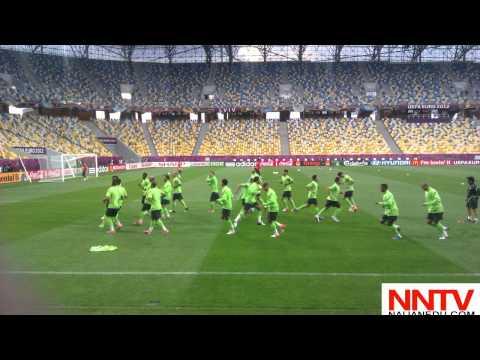 Portugal entrenando en Lviv Arena