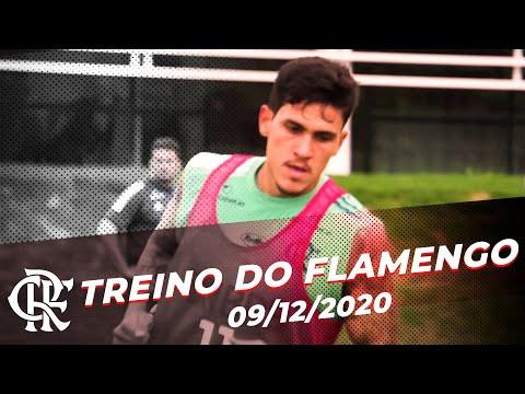 TREINO DO FLAMENGO – Rogério Ceni comanda treinamento tático e em campo reduzido.